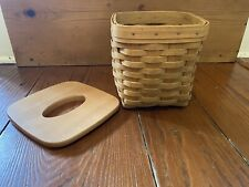 Longaberger Tall Square Tissue Basket with Lid