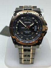 Bulova Men's Precisionist 98D149 Grey/Rose Gold Diamond Analog Watch #47