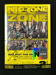 "NCT127 autographed ""NEO ZONE (N Ver.)"" 2nd Album signed PROMO CD"