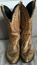 DAN POST WALNUT LEATHER MENS LACED COUNTRY WESTERN COWBOY BOOTS DP26644 SIZE 10