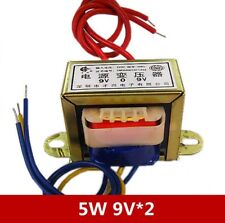 salida De Aire Acondicionado 9V*2 166 mA EI35 2 W Dual 9 V entrada de aire acondicionado 220V//50Hz Transformador de alimentación de 1 un