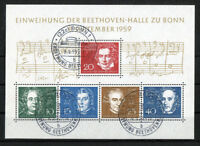 Bund Block 2 Beethoven gestempelt ESST Bonn Ersttagsstempel Michel 80,00 € used