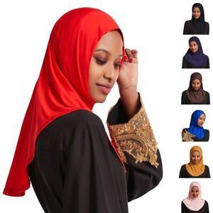 One Piece Amira Hijab Muslim Women Ready Made Scarf Pull On Instant Headscarf