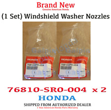 GENUINE HONDA ACCORD CIVIC WINDSHIELD WASHER NOZZLE SPRAYER  (76810-SR0-004 x 2)