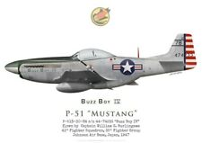 """Print P-51D Mustang """"Buzz Boy IV"""", 35th Fighter Group, 1947 (by G. Marie)"""