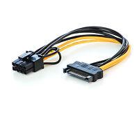 PCI Express Adapter Stromkabel SATA Power 8 Pin für Grafikkarten 8polige Buchse