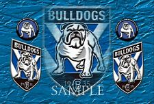 BULLDOGS  Ceramic Extra Large Tile  Photo Custom Print