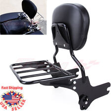 Motorcycle Detachable Passenger Backrest Sissy Bar Rack For Harley Touring 97-08