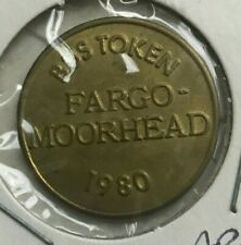 Fargo North Dakota ND 1980 Moorhead Area Transit MAT Transportation Token