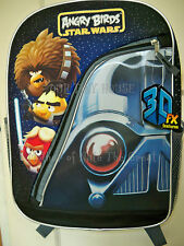 "ANGRY BIRDS Star Wars Backpackt FULL SIZE 16"" FX-3D/Lenticular Black New Rovio"