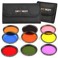 K&F Concept 58mm 9pcs Full Colour FLD Lens Filter Kit Pouch for Canon Nikon Sony