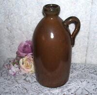 Antique Brown Stoneware Jug