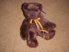 Adorable Russ Berrie Bears From The Past Dark Brown Bear - Item No. 1796 New!