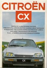 Citroen CX 1986-87 UK Market Sales Brochure 20 RE 22 TRS 25 GTi Turbo Prestige