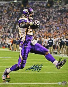 Adrian Peterson Autographed/Signed Minnesota Vikings 16x20 Photo BAS 25087 PF