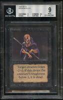 Weakness BETA BGS 9 Beckett Graded Mint Magic MTG