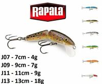 RAPALA Jointed Floating Wood Fishing Lure  7cm - 13cm / 4g -18g  Various Colours