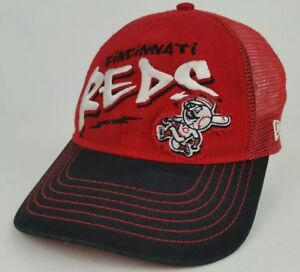 Cincinnati Reds MLB NewEra 9Forty Youth One Size Baseball Hat Cracked Snap Back