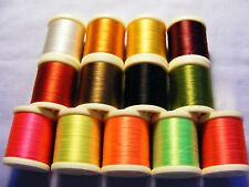 Assorted coloured 100 / 200yd Spool of Fly Tying Thread, pay Post 1st spool only