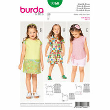 Burda Sewing Pattern Kids Two Dresses Choice of Sleeves Sizes 2 - 7 9360