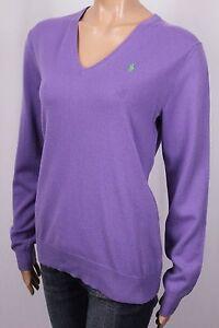 Ralph Lauren Blue Label Purple Cashmere Crewneck Sweater NWT