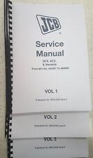 JCB 3CX 4CX  & VARIANTS SERVICE MANUAL REPRINTED COMB BOUND