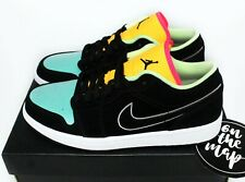 Nike Air Jordan 1 Retro Low SE Schwarz Aurora Green Orange Bio Hack UK 6 US 7 NEU