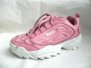 FILA DISRUPTOR PINK Girl's Leather TRAINERS SIZE 3 UK EUR 36
