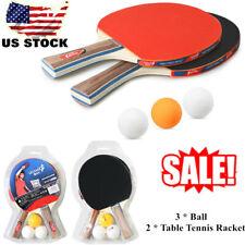 Home Table Tennis 2 Player Set 2 Table Tennis Racket 3 Ping Pong Balls Q8V1