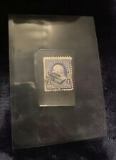 US #219 (1890) 1 cent Benjamin Franklin Stamp - Blue - Used- Flames, Rare