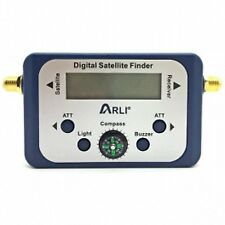 Digital Satellite Finder HDTV DIGITAL SAT Analizzatore placcato LCD COMPASSO NC + Sky
