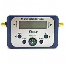 Digital Satellite Finder HDTV DIGITAL SAT Analizzatore placcato LCD COMPASSO NC + Sky