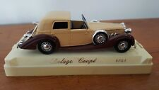O gauge 1:43 Solido 4051 Delage Coupe - Brown / Beige - Ex Cond. Boxed