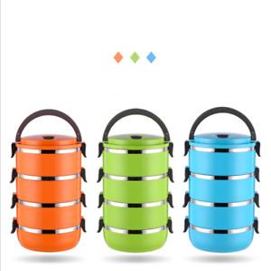 4 Strati Lunch Box Coibentato Termico Contenitore Per Alimenti Cibo Acciaio Inox