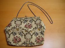 Antique German Tapestry Hand Bag Purse Made in W Germany Brand Walborg