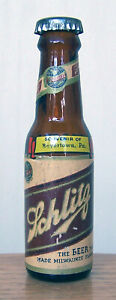 #1 Schlitz Miniature Long Neck Beer Bottle Milwaukee WI Mini Cone Boyertown PA