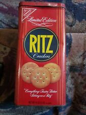 Vintage 1986 16 oz Limited Edition Nabisco Ritz Crackers Tin Metal Can