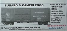 Funaro  F&C HO PRR X37B Steel Automobile boxcar,  superior doors,  Kit 8445
