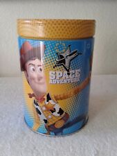 Walt Disney's Toy Story Large Round Illustrated Tin Coin Bank Style Look Out.