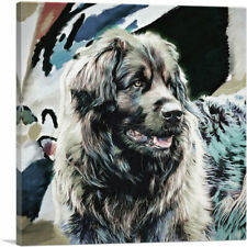 Artcanvas Leonberger Dog Breed Modern Canvas Art Print