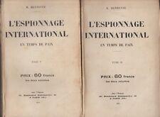 HIST. L'Espionnage International en temps de paix T1&2/ Roger Mennevée .E.O.1929