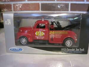 WELLY 1953 CHEVROLET TOW TRUCK 1:24 SCALE DIE CAST--NEW