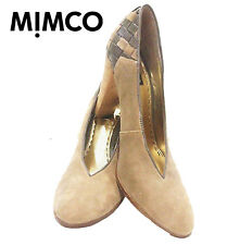 ALMOST NEW! Gorgeous Mimco Suede w Patent leather pumps - Size 38