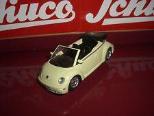 Schuco VW NEW BEETLE CABRIO jaune clair plus âgés Schuco Série 1:43