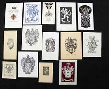 31)Nr.186- EXLIBRIS-verschiedene Künstler, Heraldik ,Konvolut 14 Blätter