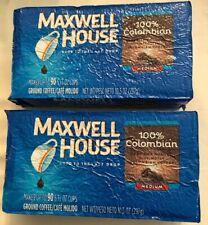 2 Bricks Maxwell House 100% Columbian Ground Coffee Medium Roast