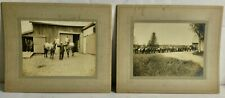 c1900 Set of 2 Early Large Albumen Photographs Farming Horses North Anson Maine