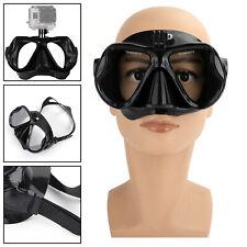 Black Diving Mask Scuba Snorkel Goggles Face Glasses Mount For GoPro Hero US H2