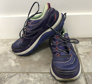 Hoka One One Constant Blue Mulberry Patina Active Running Womens Shoes Size 7.5