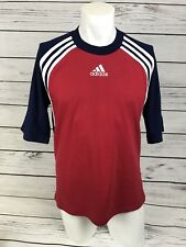 Vintage Retro 90s ADIDAS Red Top T-Shirt |Spell Out Logo | Size M/L |a44